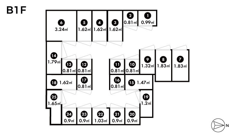 Trunk room map